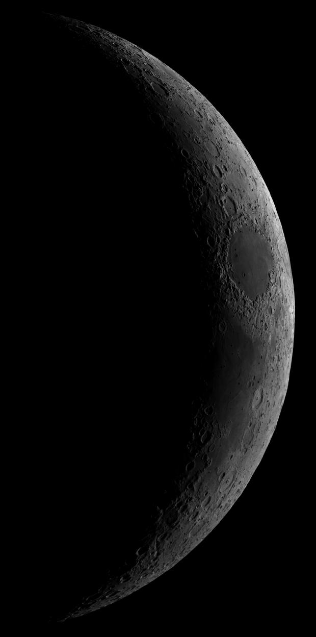 High Resolution Crescent Lunar Mosaic (23 Panels),                                Matt Baker