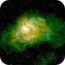 NGC 6523  - Lagoon Nebula - M8 - 500mm - 20170824 - 44x300_H, 34x300s_SII, 58x300s_OIII,                                Gabe van den Berg