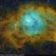 M8, Lagoon Nebula, SHO Hubble Palette, Aug 2019,                                David Dearden