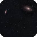 The M81 Group of galaxies - First light of my CEM70,                                Jérémie