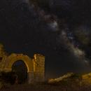 Milky Way, Jupiter, Saturn and shooting star over San Agustin,                                Francisco Jose Corregidor