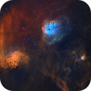 IC405 (Flaming Star), IC410 (NGC1893, The Tadpoles nebula), IC417 (The Spider nebula), NGC1931 (the Fly nebula),                                Sendhil Chinnasamy
