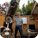 400mm F/4.5 homebuilt Newtonian on MesuMount 200 MKII,                                Albert van Duin