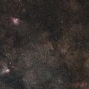 Eagle and Swam Nebulae - M16-M17 Widefield,                                Gabriel R. Santos (grsotnas)