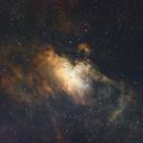 Eagle Nebula in NHO blend,                                Tom KoradoxTom
