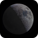 First Quarter Moon with Earthshine (Colour),                                MoonBoy