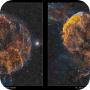 IC 443 supernova remnant as a freeview stereo pair,                                Metsavainio