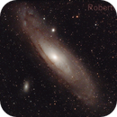 Andromeda's Galaxy (M31) in RGB+Ha+OIII,                                Roberto Frassi