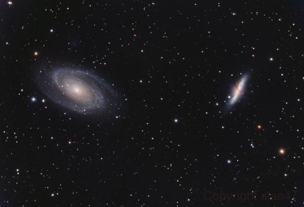 Messier 81 + Messier 82,                                Alain L'ECOLIER