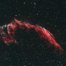 NGC6992, NGC6995, Eastern Veil Nebula Bi-Colour,                                HaSeSky