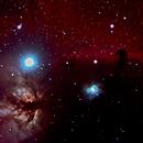 Flame and HorseHead Nebulae,                                Tim