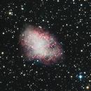 Messier 1 (Nébuleuse du crabe) en LRGB,                                Denis Bergeron