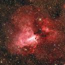 The flying Swan Messier 17,                                Johannes Bock