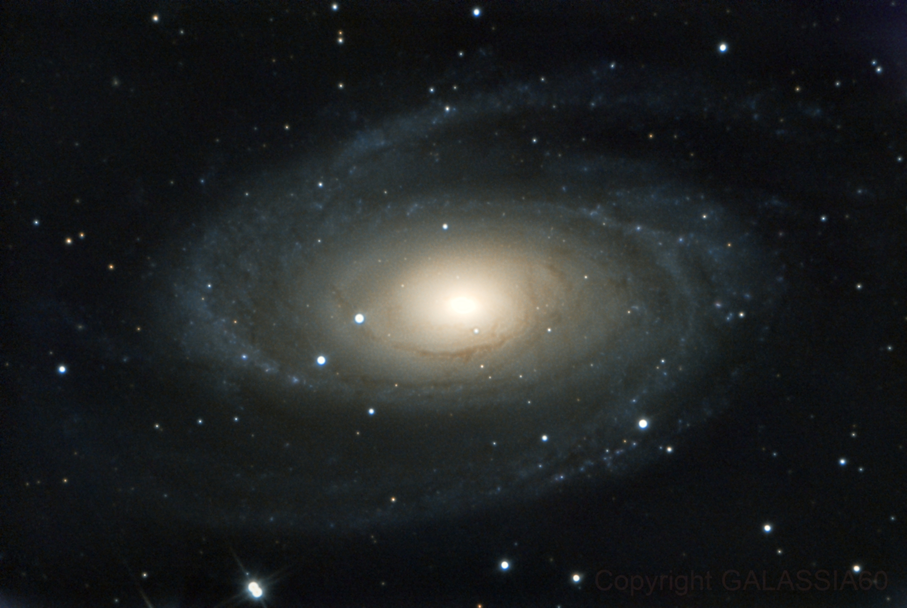 M 81 - Bode's Galaxy,                                GALASSIA 60