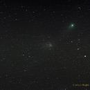 Comet Garradd - C/2009 P1 and M71 Open Cluster,                                NewLightObservatory