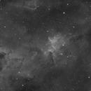 IC1805 Hydrogen Alpha With a Full (96.4%) Moon,                                Dean Jacobsen