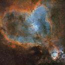 IC1805 - Heart Nebula (2-Panel Mosaic),                                Mikko Viljamaa