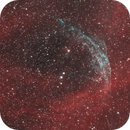 WR 134 with OIII shell in Cyg. Image in HOO with RGB stars.,                                Benny Colyn
