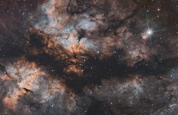 Butterfly Nebula (IC 1318) SHORVB,                                Ysty