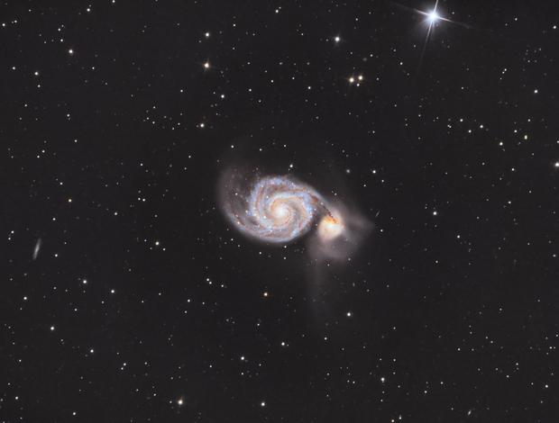 M51 - The Whirlpool Galaxy,                                Michel Makhlouta