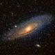 Andromeda galaxy M31,                                DonDon