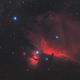 Horsehead Nebula and Friends - B33 - IC 434 - NGC 2024 (Theli v1 L=R,RGB),                                Martin Junius