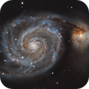 Whirlpool Galaxy (Messier 51) with C14,                                Henning Schmidt