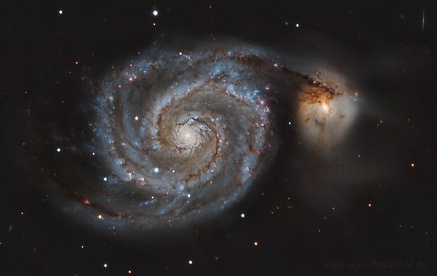 Whirlpool Galaxy (Messier 51) with C14,                                Henning Schmidt