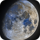 Earth's Moon - Waxing Gibbous In Colors,                                Jason Guenzel