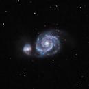 Messier 51 The Whirlpool Galaxy,                                Harri Heikkinen