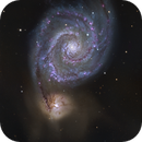 M51 - Whirlpool Galaxy - two panel mosaic - Liverpool Telescope,                                Daniel Nobre