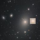 M87 - Virgo A - NGC 4486 - Supergiant Elliptical Galaxy (core enlarged),                                Martin Junius