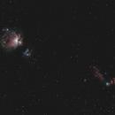 Orion, Running Man, Flame, and Horsehead Nebulae,                                aatdalton