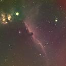 IC 434 Horse Head Nebula-NGC 2024 Flame Nebula-Ha-RGB-Meade 80 ED triplet-ASI 1600-MM-Pro-another version,                                Adel Kildeev