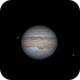 Jove with two of its moons, Io and Ganymede,                                Michael Pettet