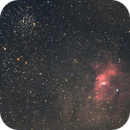 Bubble nebula + M52,                                cguvn