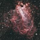 M17 Omega Nebula RGB,                                Brandon Tackett