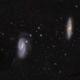 M 65, 66  Galaxies in Leo,                                GJL