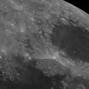 Moon Mare Crisium (UHCS) Crater Proclus hue interesting,                                Wanni