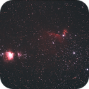 Orion from Villa Tatti of 06th of January 2006 - V2 crop and nebulsity increasement,                                Stefano Ciapetti
