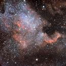 NGC 7000 under a full moon,                                paulweingart