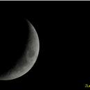 Croissant de Lune sur le site d'astro de Ramillies,                                JLem@ire