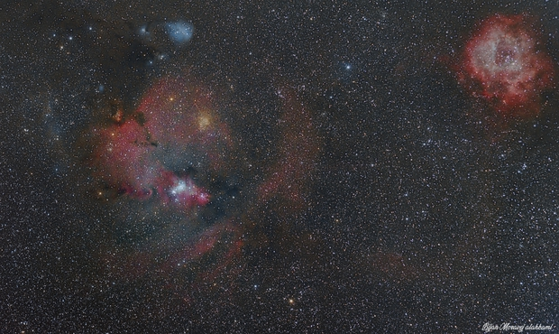 From Rosette To Cone nebula,                                Bijan Moravej ala...