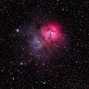 M20 - Trifid Nebula,                                guvenozkan