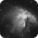 "Pacman Nebula in Ha - first light of my new 12"" ODK telescope,                                Luigi Fontana"