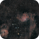 Comet C/2020 M3 (ATLAS) say Godbay to IC405 and IC410 (Mosaic 3 panel),                                Alessandro Micco