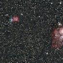 Nebulosa Trífida y Laguna,                                Wilmari