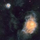M8 & M20, Hubble Palette,                                Stephen Garretson