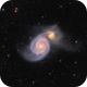 Whirlpool Galaxy M51  - HII nodules enhanced,                                Arnaud Peel