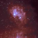 Flaming Star Nebula - Abstract Art?,                                psychwolf